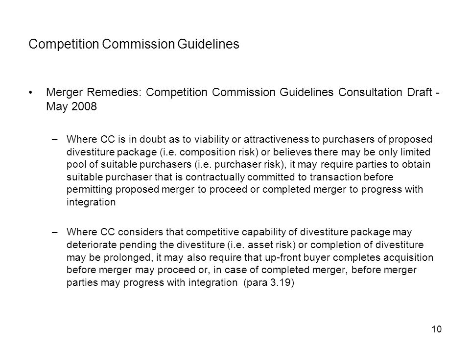 Competition Commission Guidelines