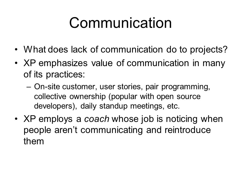 Communication What does lack of communication do to projects