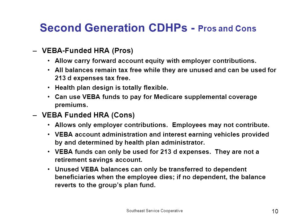 Second Generation CDHPs - Pros and Cons