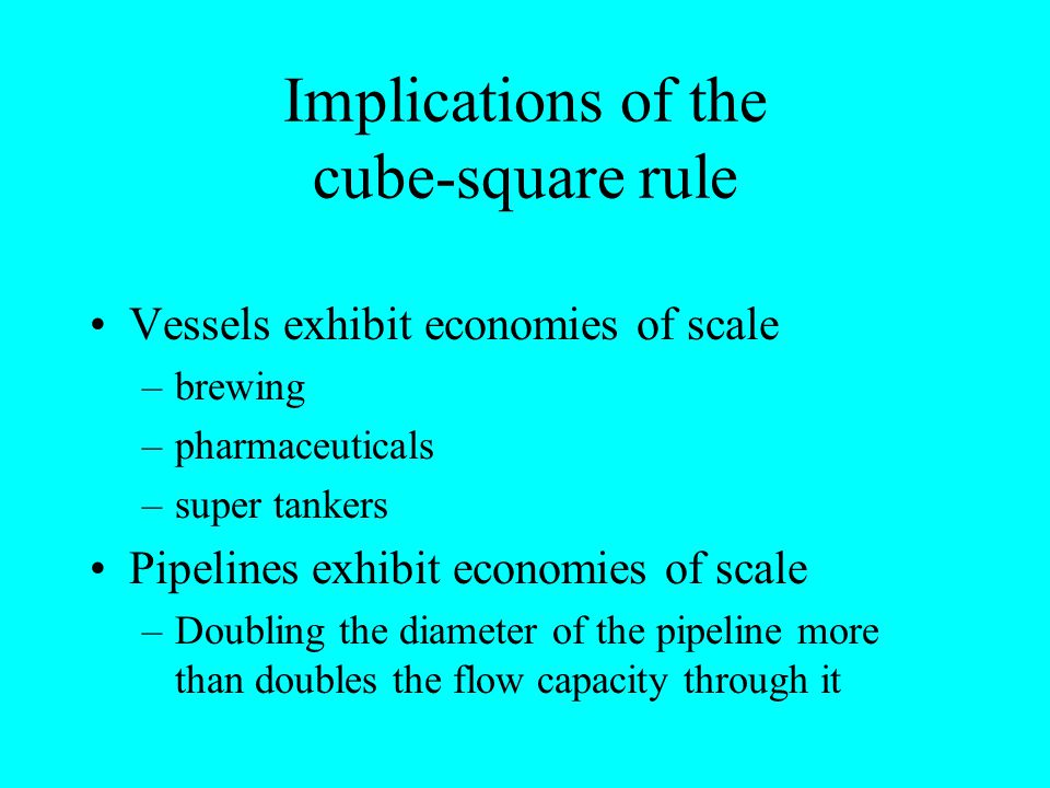Implications of the cube-square rule