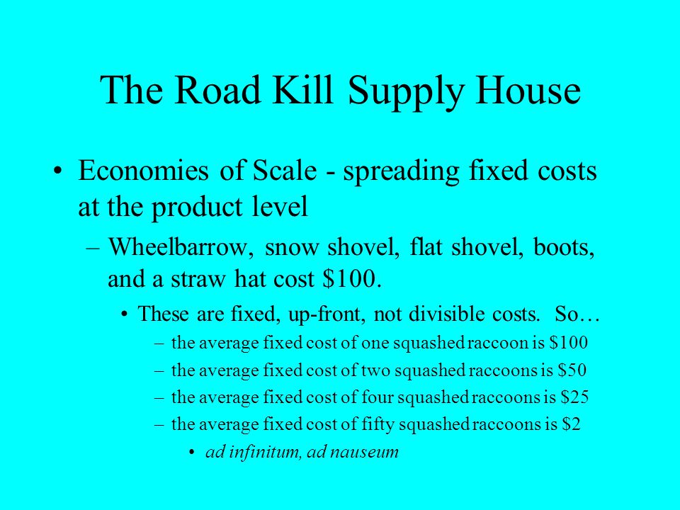 The Road Kill Supply House