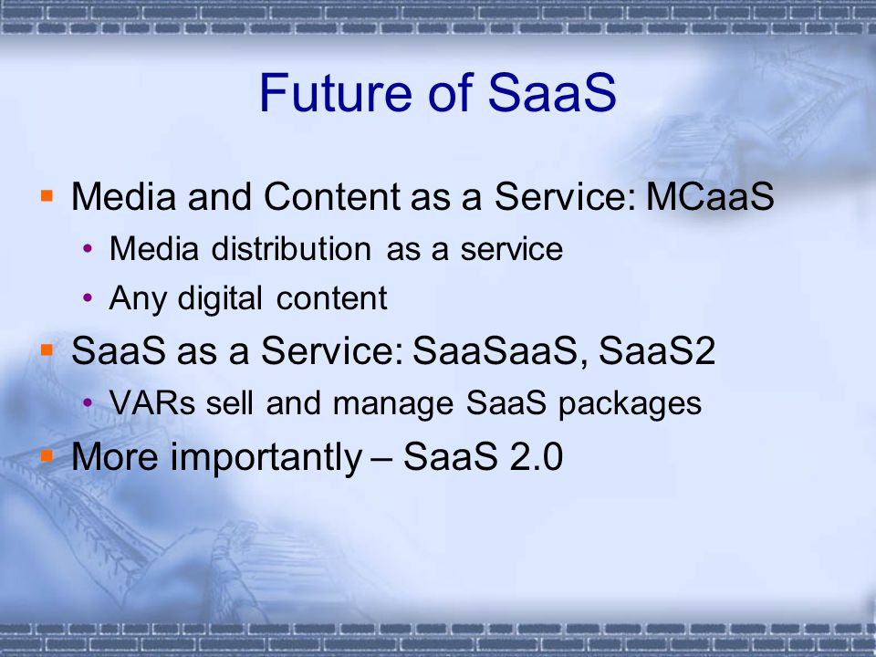 Future of SaaS Media and Content as a Service: MCaaS