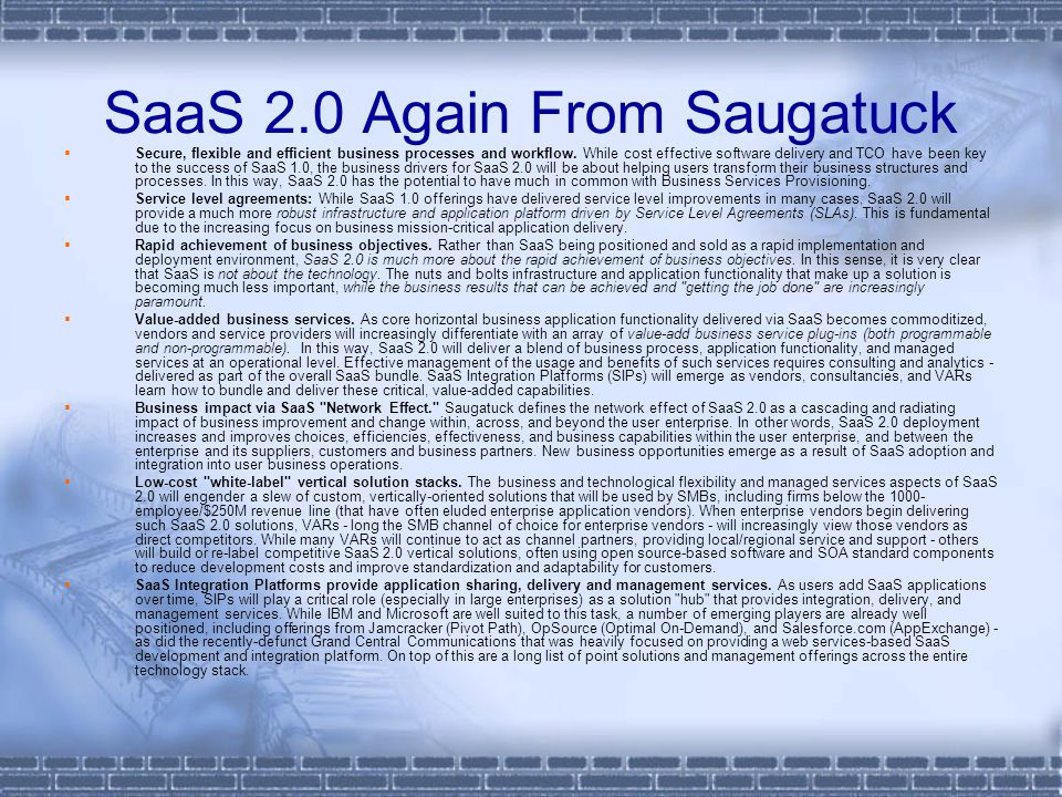 SaaS 2.0 Again From Saugatuck