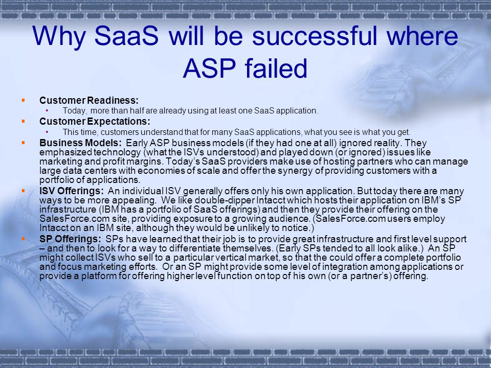 Why SaaS will be successful where ASP failed