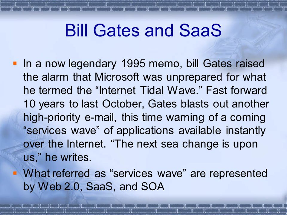 Bill Gates and SaaS