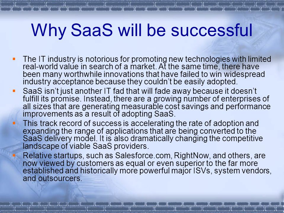 Why SaaS will be successful