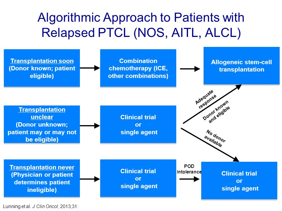 Algorithmic Approach to Patients with Relapsed PTCL (NOS, AITL, ALCL)