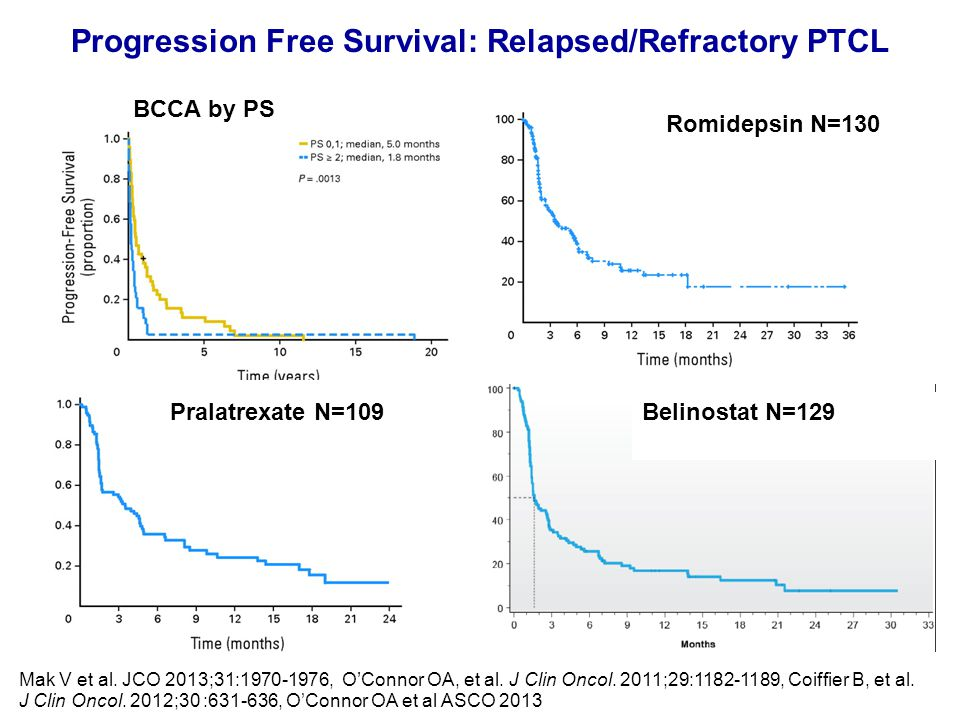Progression Free Survival: Relapsed/Refractory PTCL