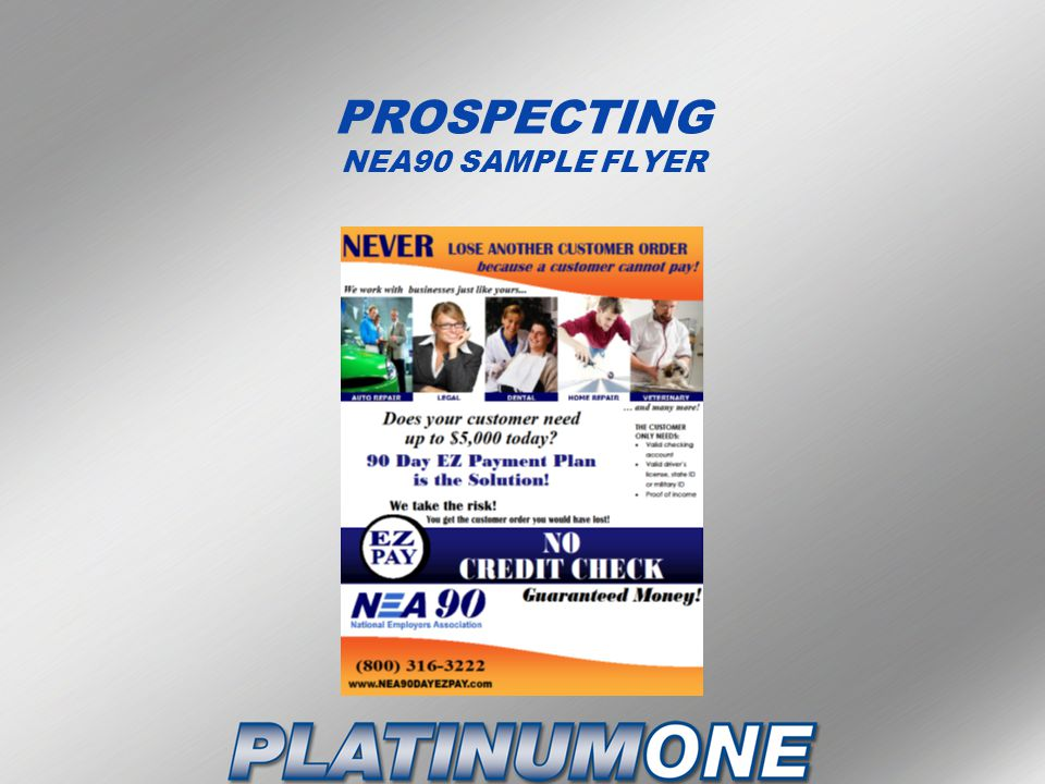 PROSPECTING NEA90 SAMPLE FLYER