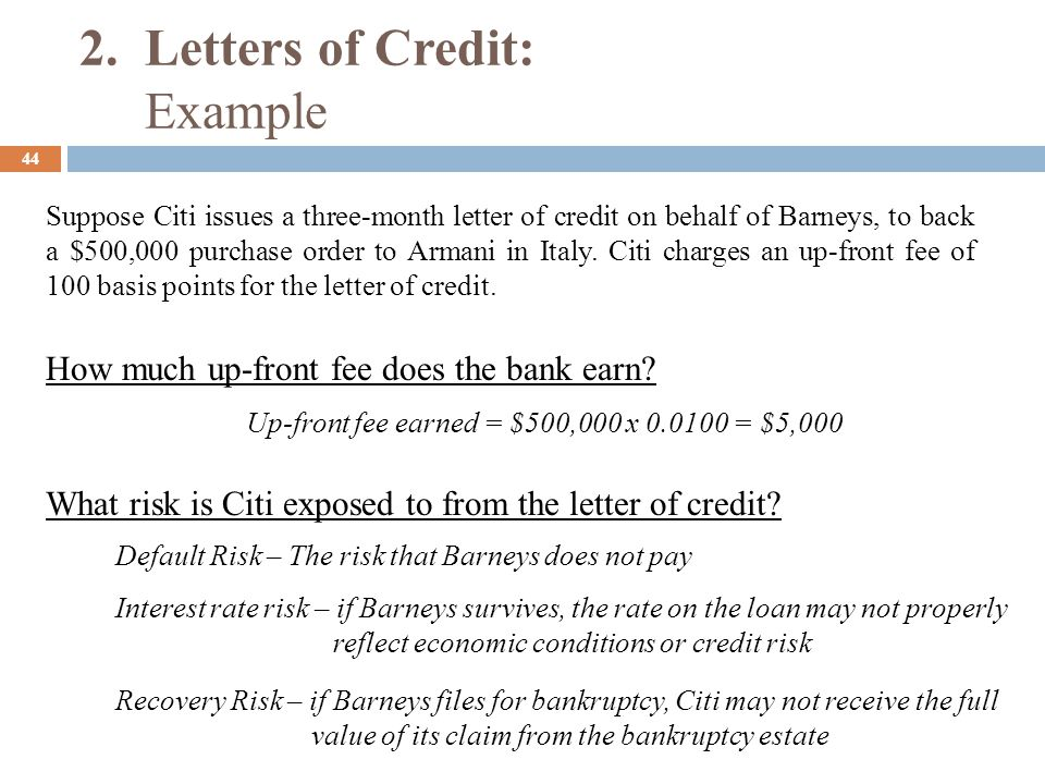Confirmed Letter Of Credit Example  Letter Format Writingletter