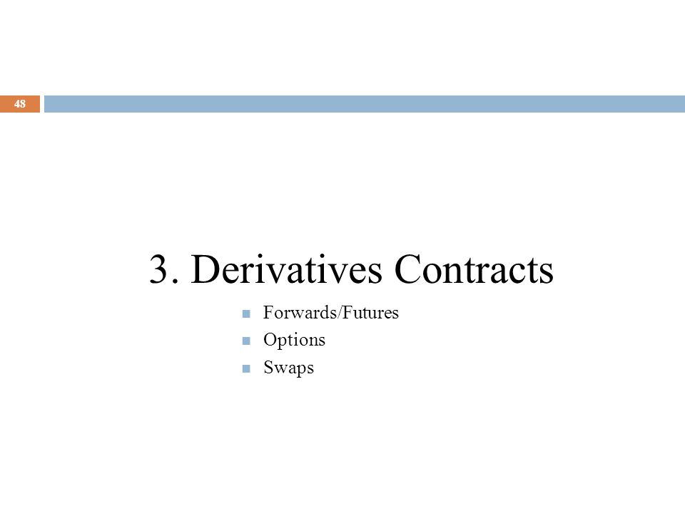 3. Derivatives Contracts