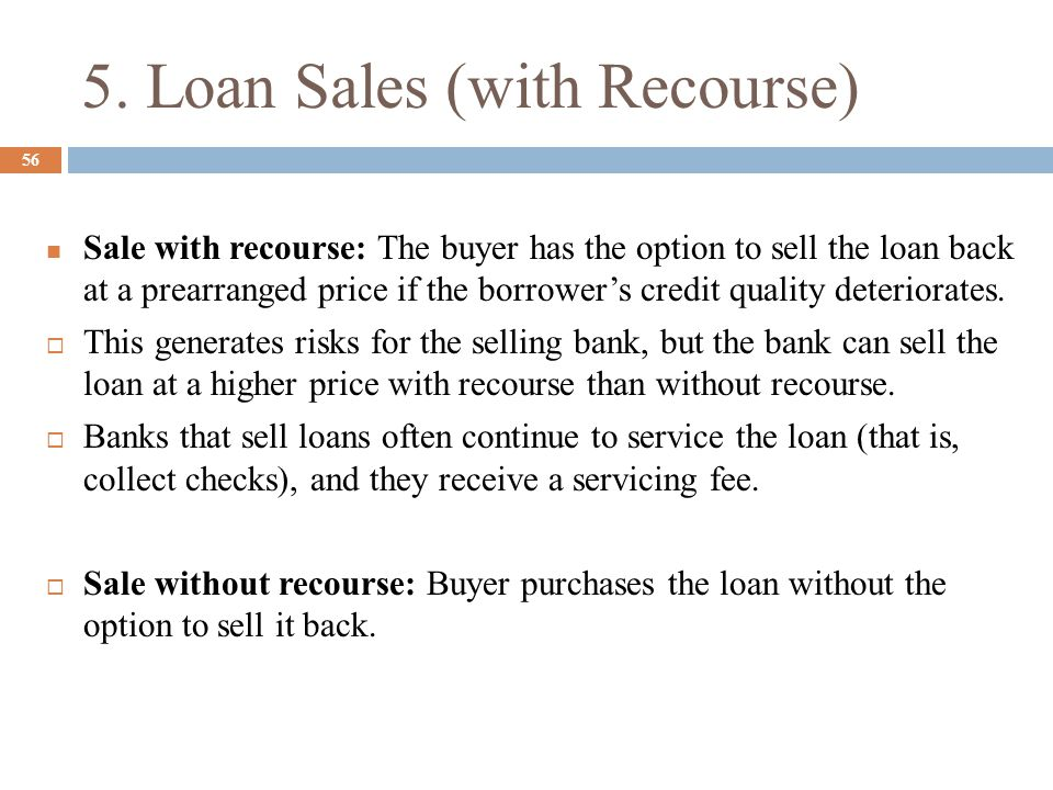 5. Loan Sales (with Recourse)