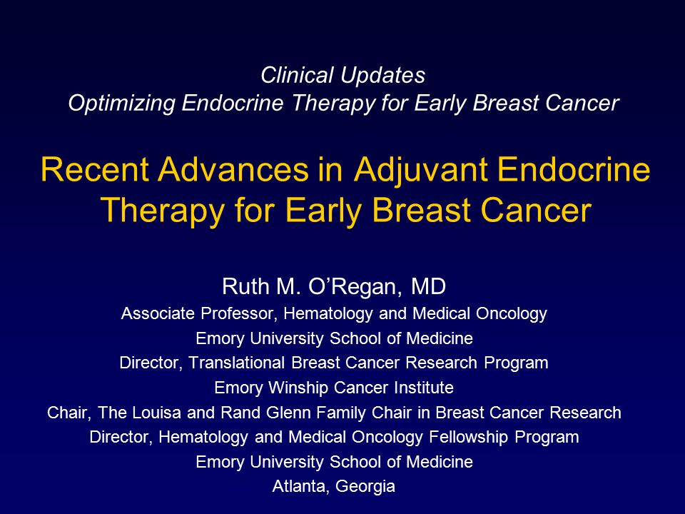 Endocrine treatment for early breast cancer.