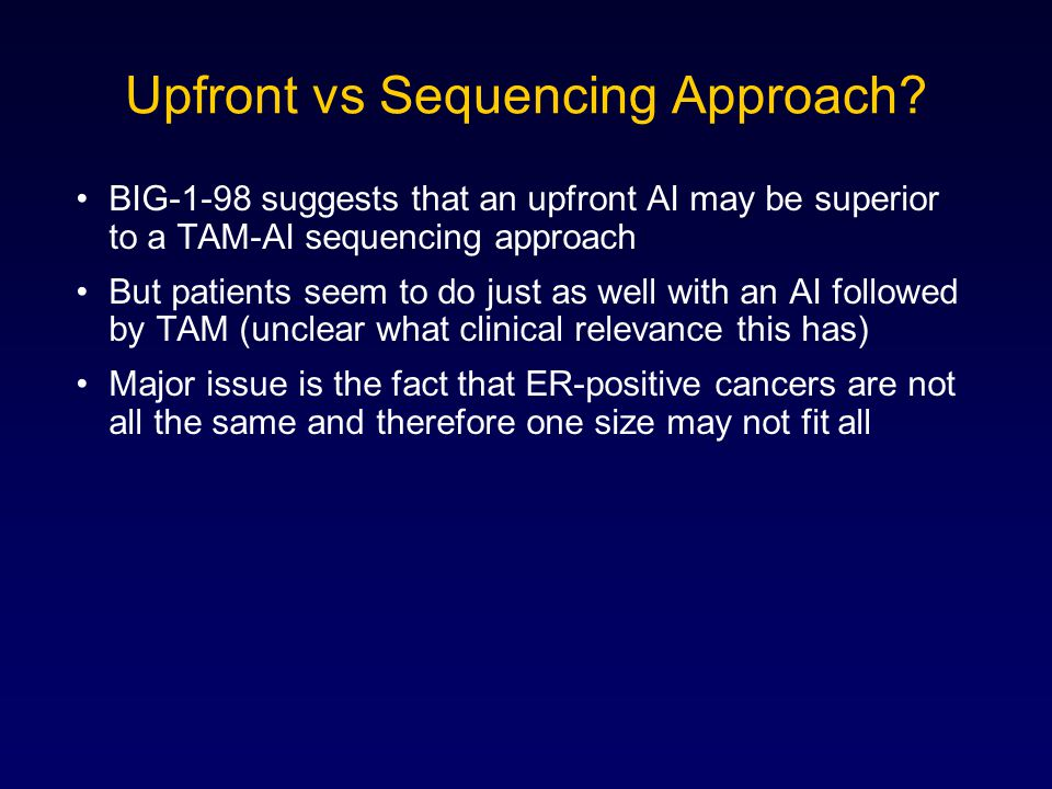 Upfront vs Sequencing Approach