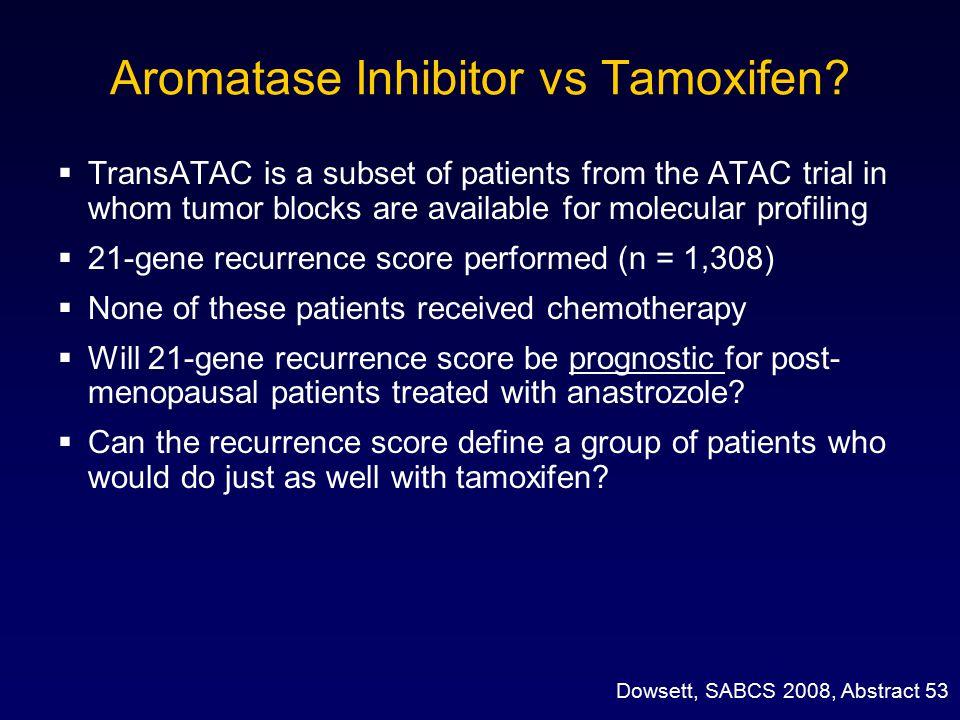 Aromatase Inhibitor vs Tamoxifen