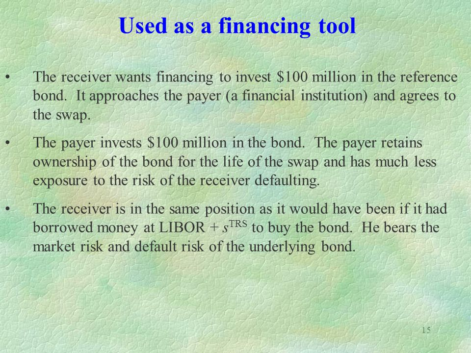 Used as a financing tool
