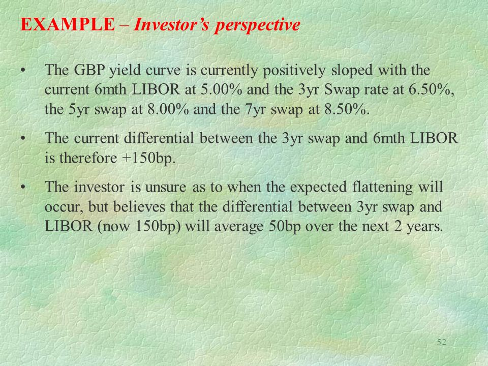 EXAMPLE – Investor's perspective
