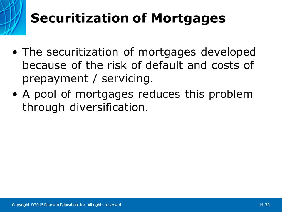 Securitization of Mortgages
