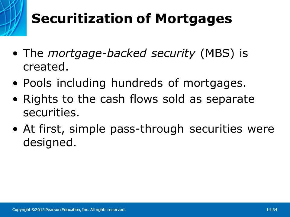 Securitization of Mortgages: The Mortgage Pass-Through