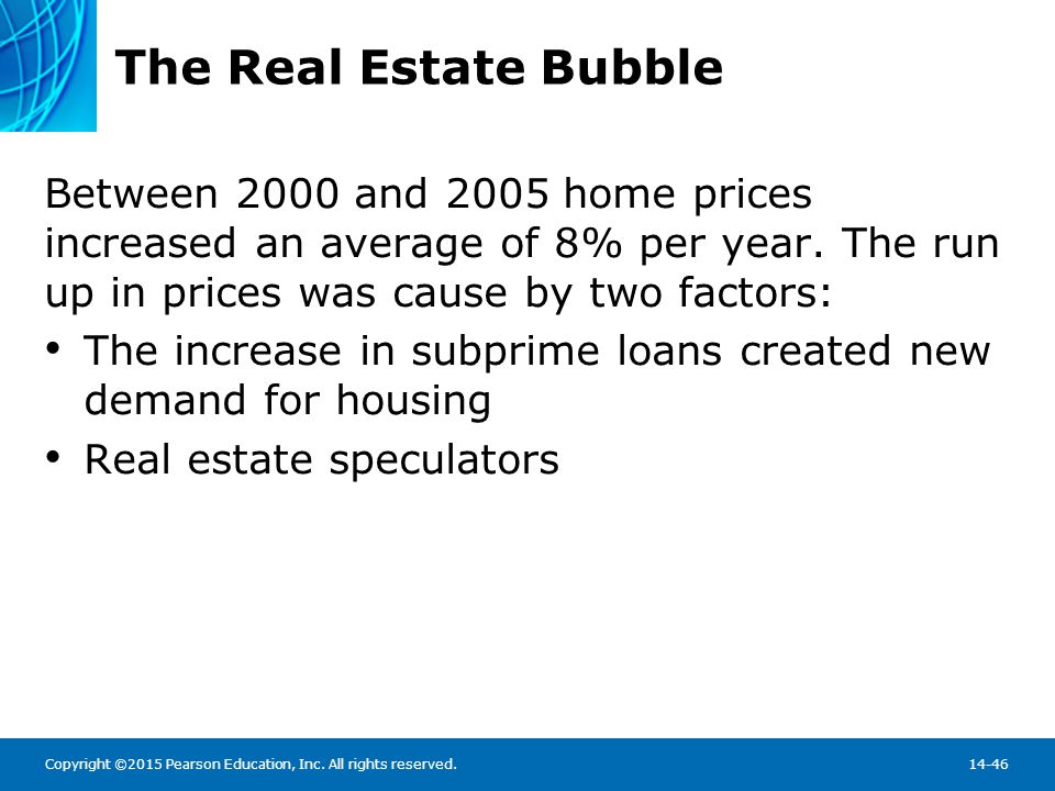 The Real Estate Bubble In the aftermath of the financial meltdown, lending policies have largely returned to selecting capable borrowers: