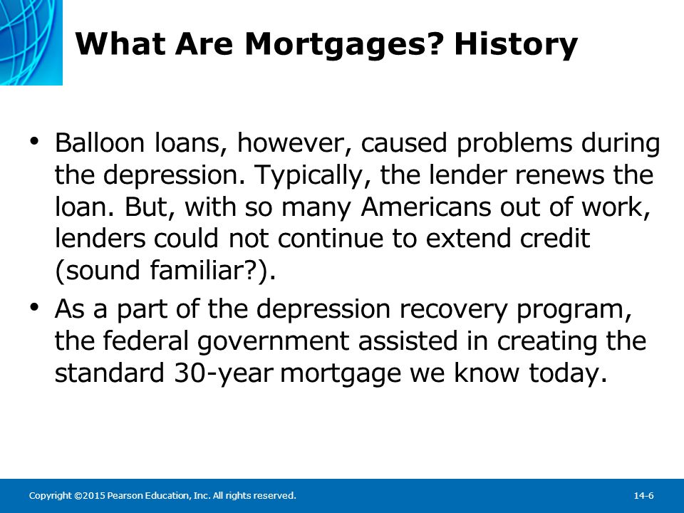 Characteristics of the Residential Mortgage