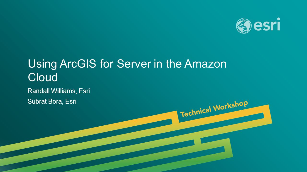 Using ArcGIS for Server in the Amazon Cloud