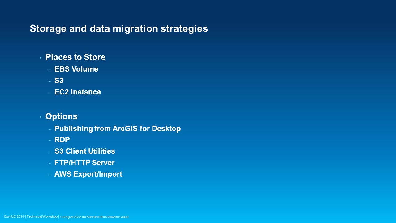 Storage and data migration strategies