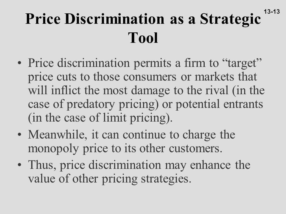 Price Discrimination as a Strategic Tool