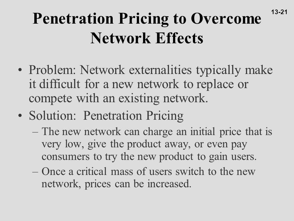 Penetration Pricing to Overcome Network Effects
