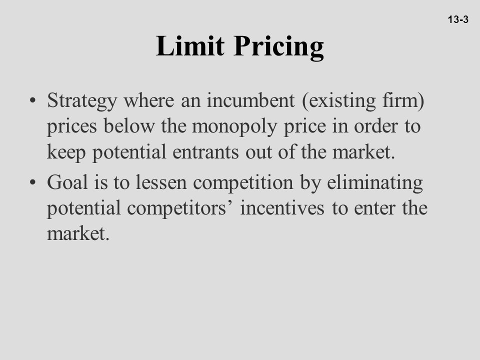 13-3 Limit Pricing.