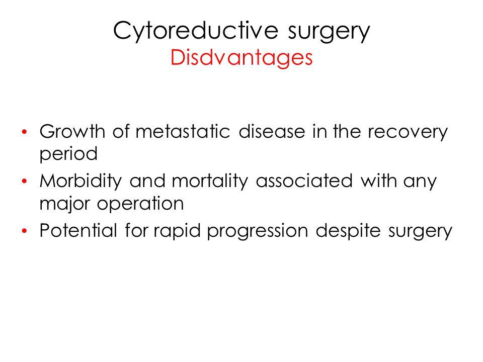 Cytoreductive surgery Disdvantages