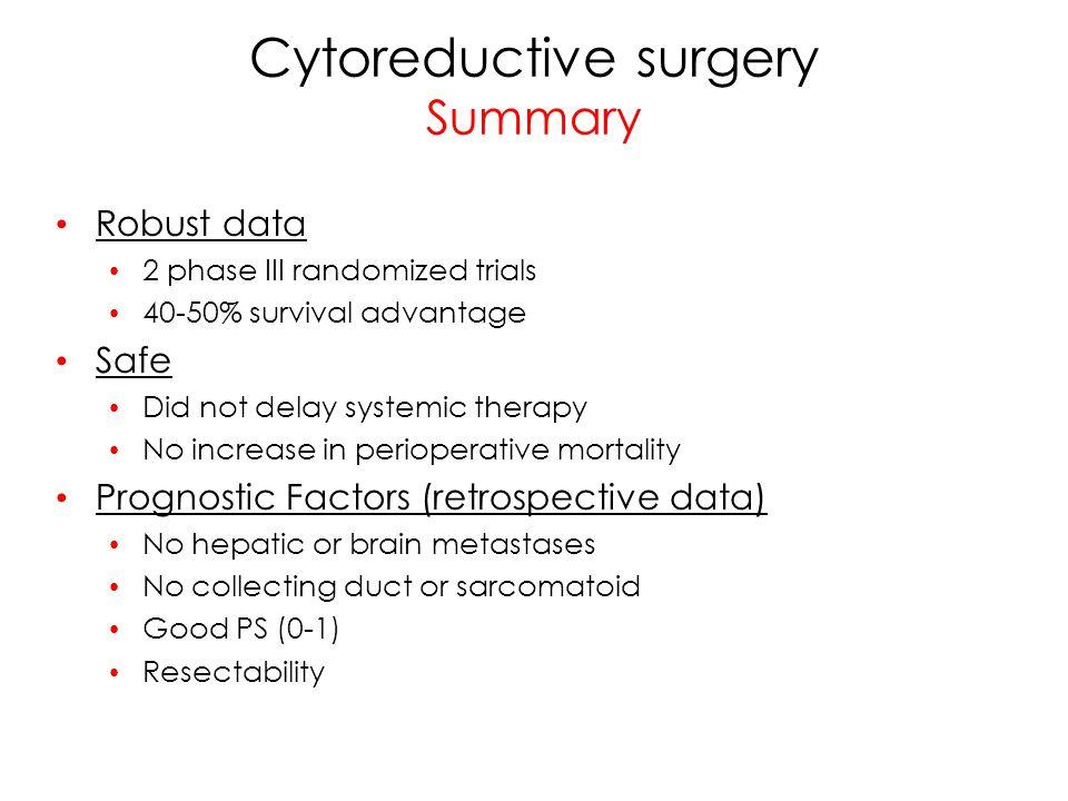 Cytoreductive surgery Summary