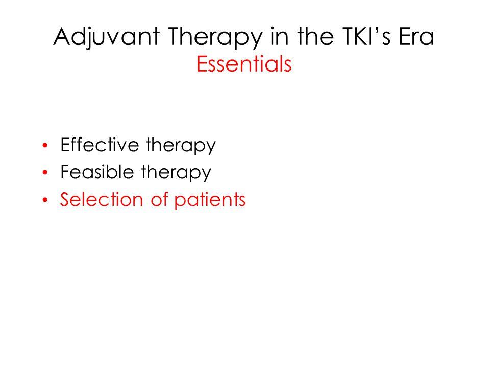 Adjuvant Therapy in the TKI's Era Essentials