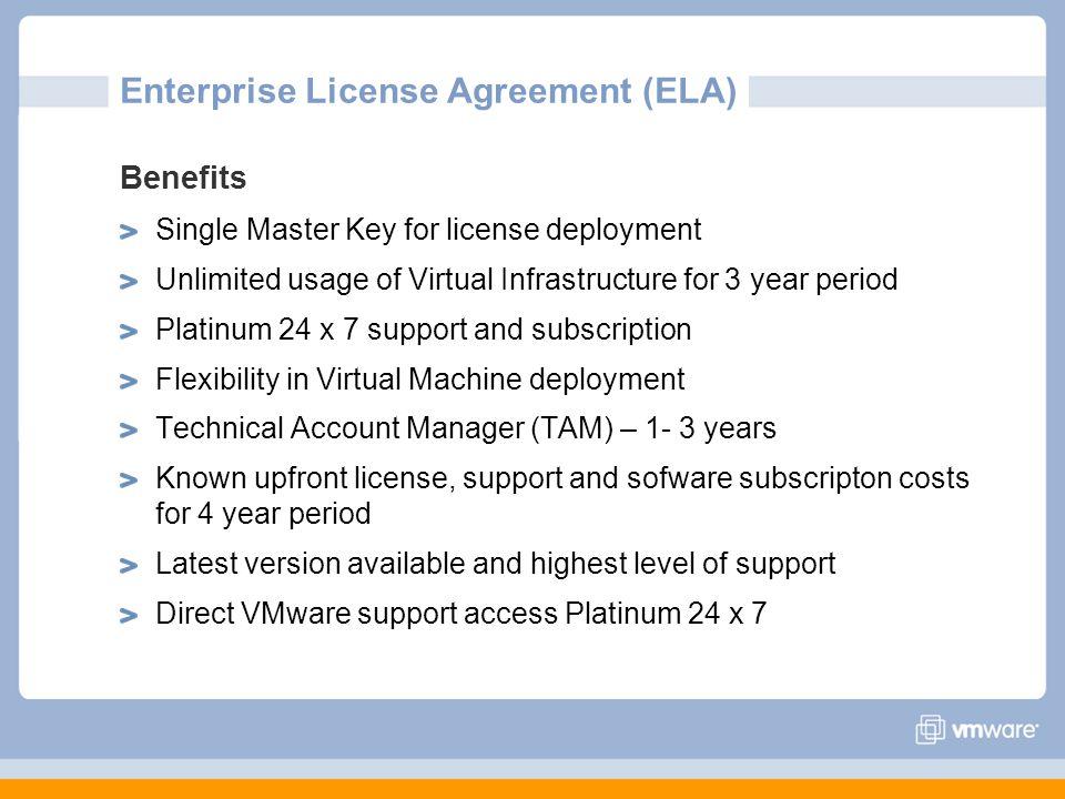 Enterprise License Agreement (ELA)