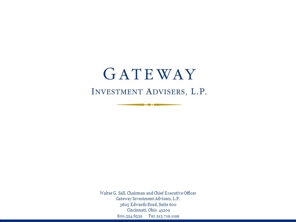 Gateway Strategy: Equity — Why Not