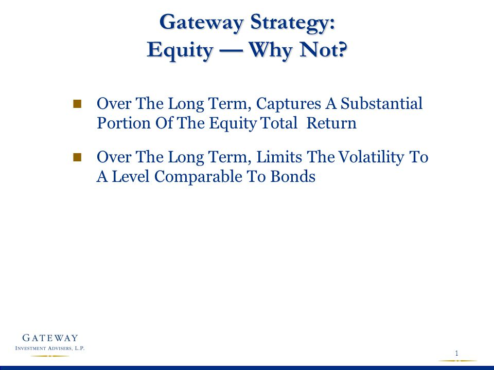 Development Of Hedged Equity Strategy At Gateway
