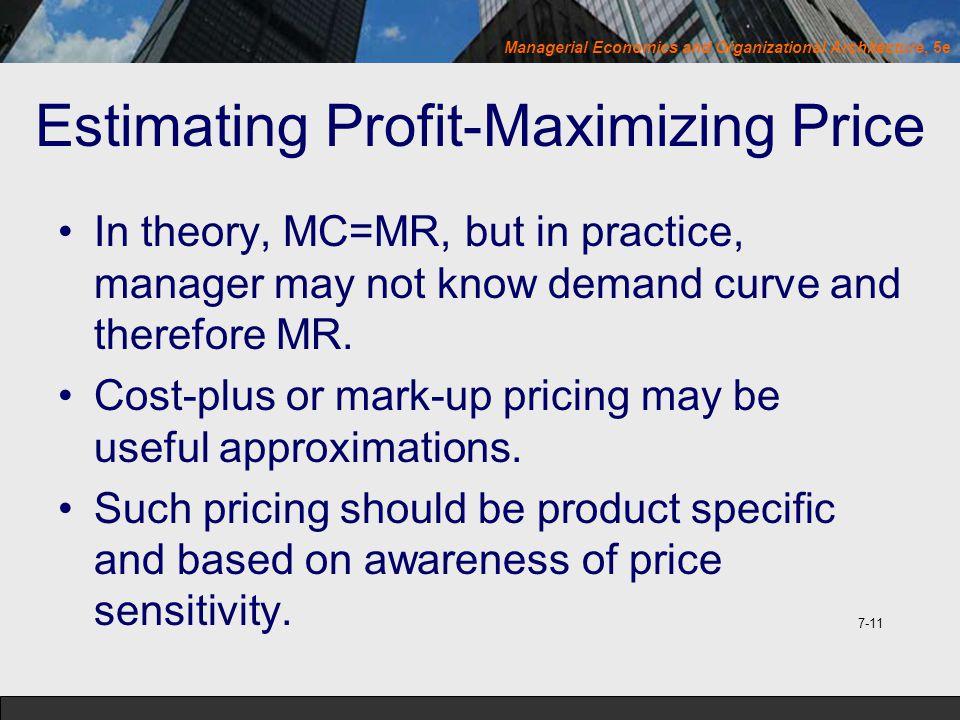 Estimating Profit-Maximizing Price