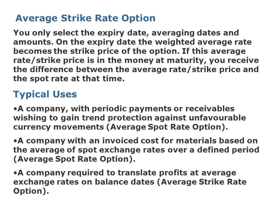 Average Strike Rate Option