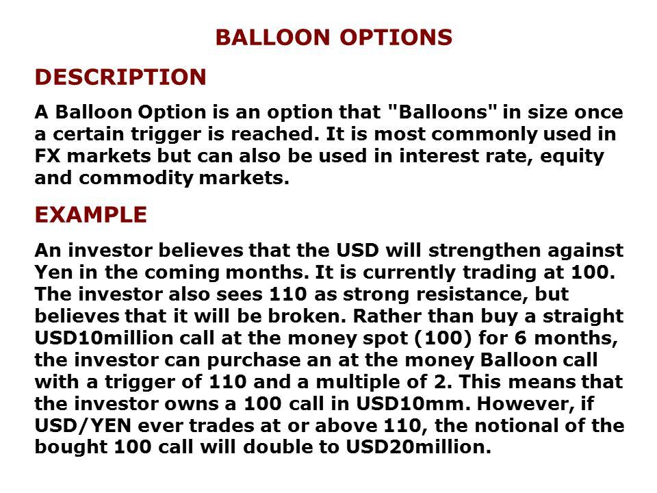 BALLOON OPTIONS DESCRIPTION EXAMPLE