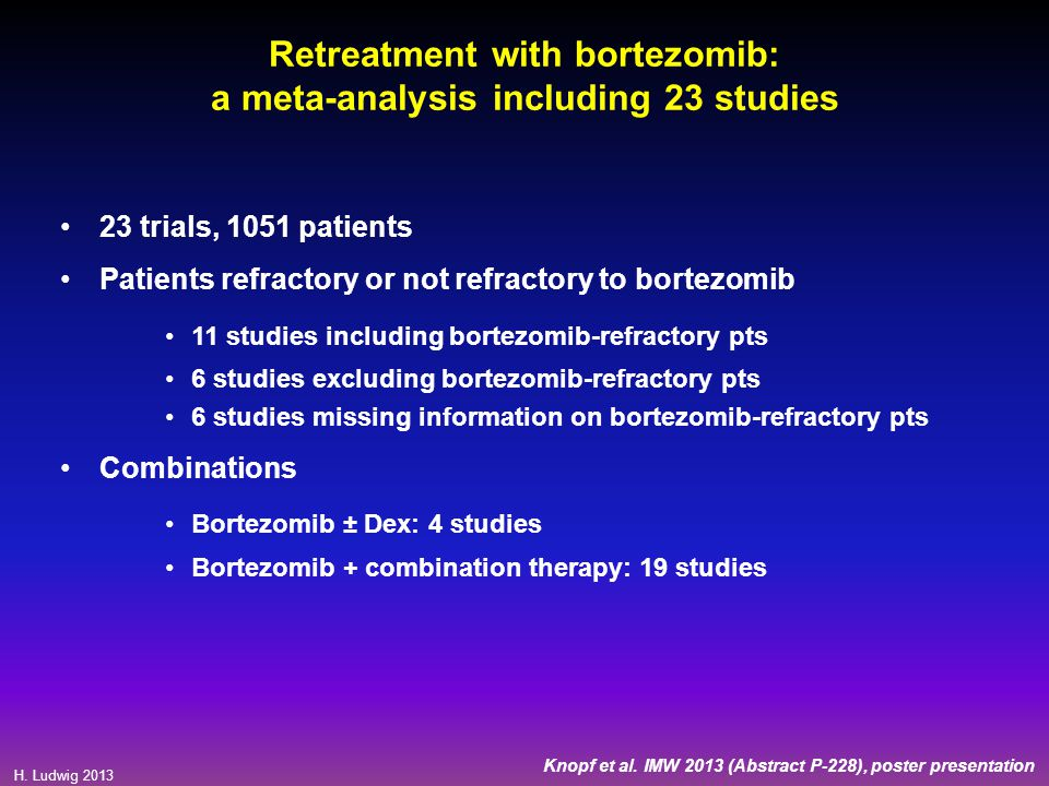 Retreatment with bortezomib: a meta-analysis including 23 studies