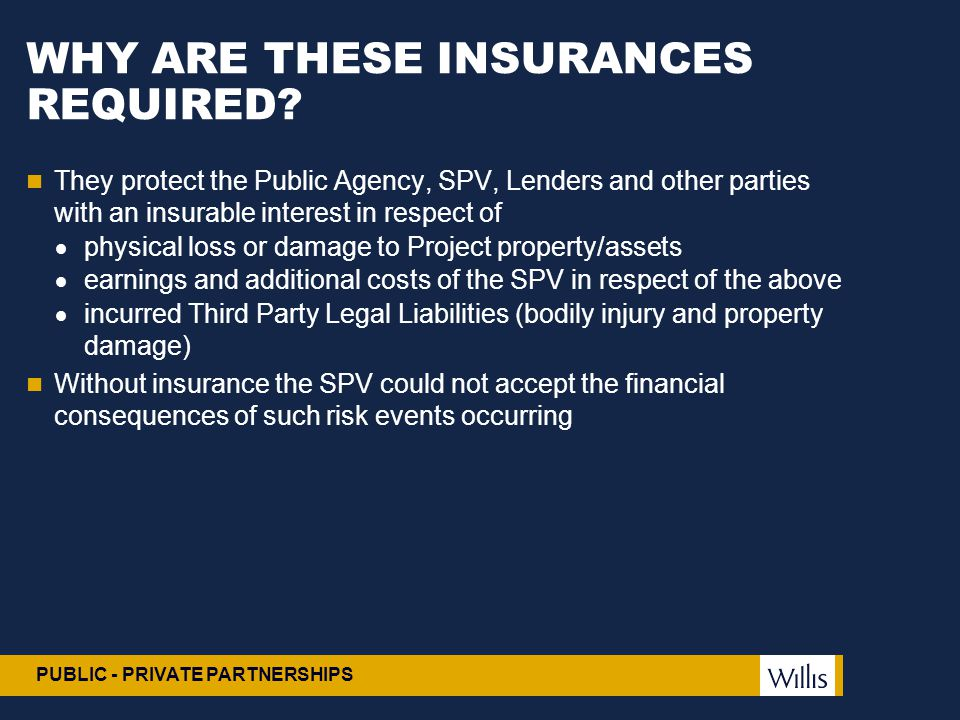 WHY ARE THESE INSURANCES REQUIRED
