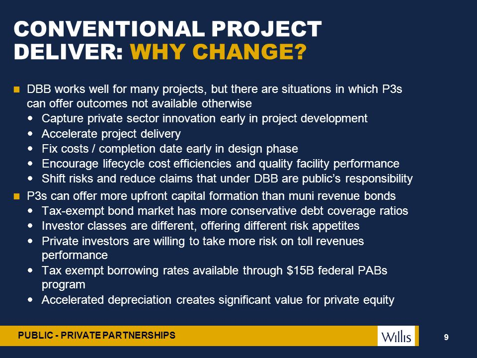 CONVENTIONAL PROJECT DELIVER: WHY CHANGE