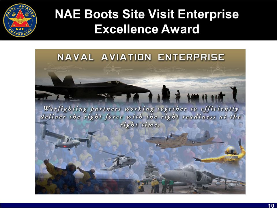 NAE Boots Site Visit Enterprise Excellence Award
