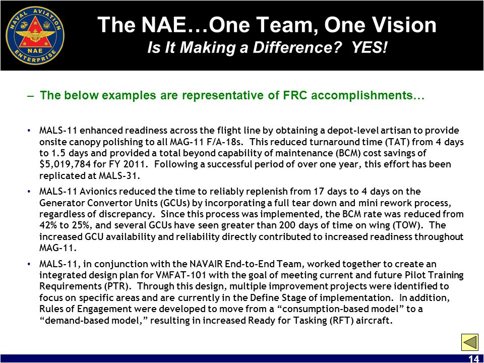 The NAE…One Team, One Vision Is It Making a Difference YES!
