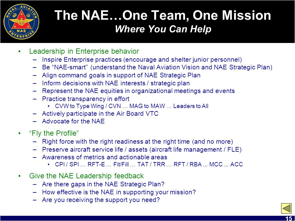 The NAE…One Team, One Mission Where You Can Help