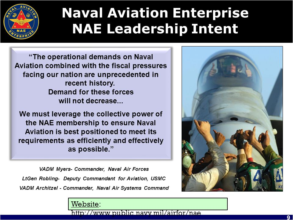 Naval Aviation Enterprise NAE Leadership Intent