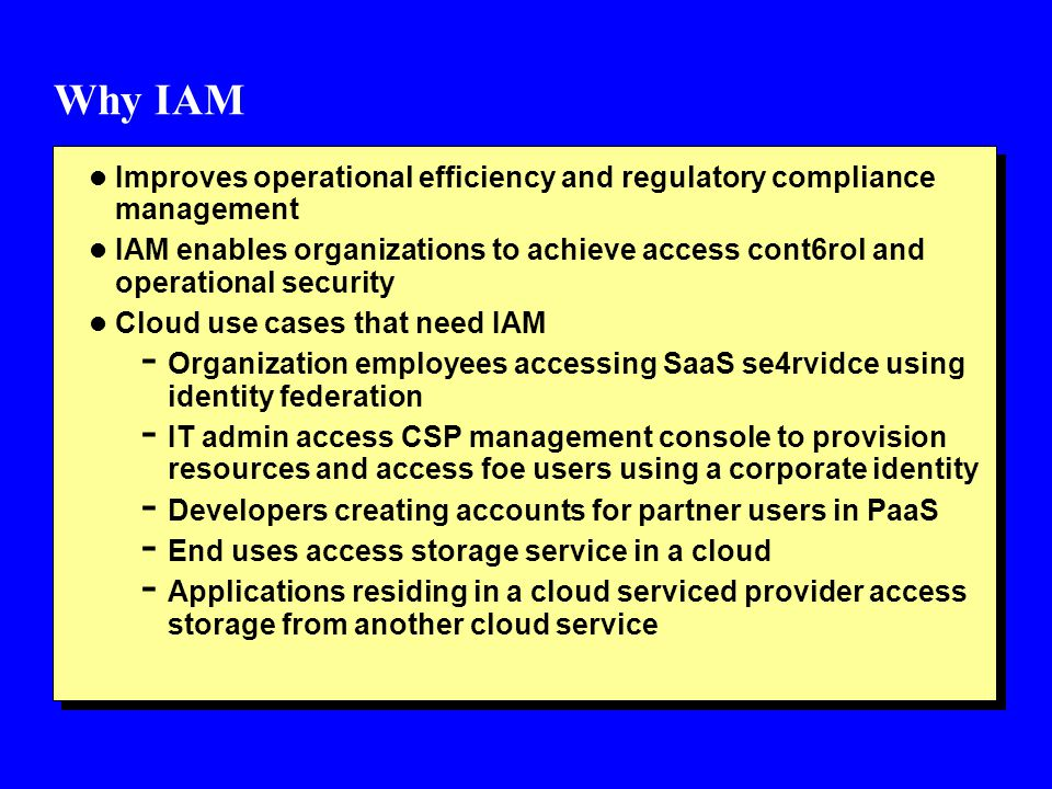 Why IAM Improves operational efficiency and regulatory compliance management.