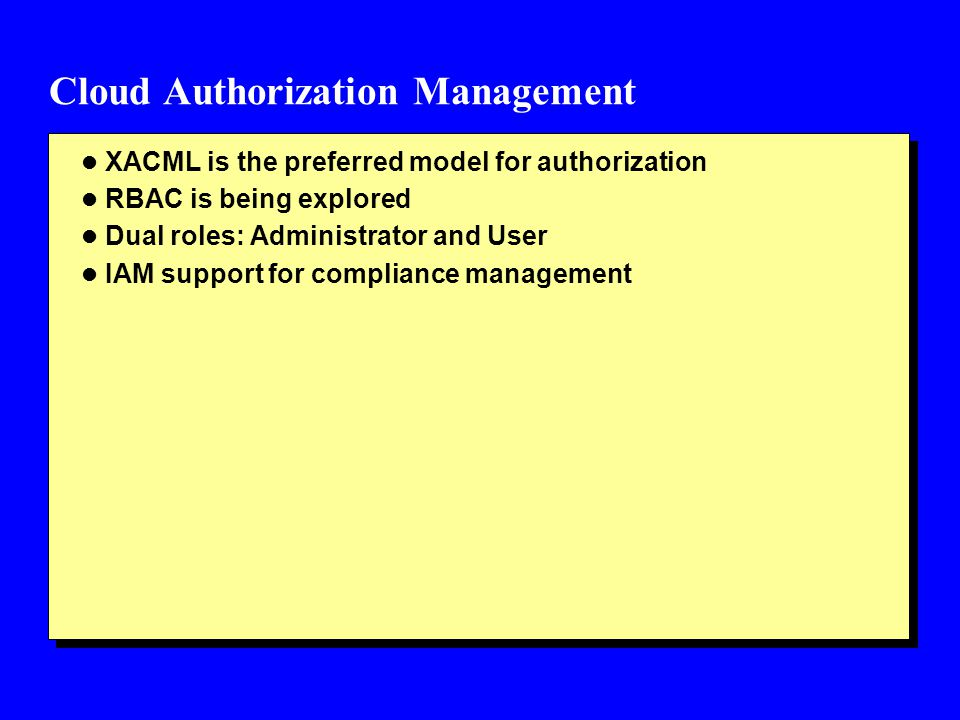 Cloud Authorization Management