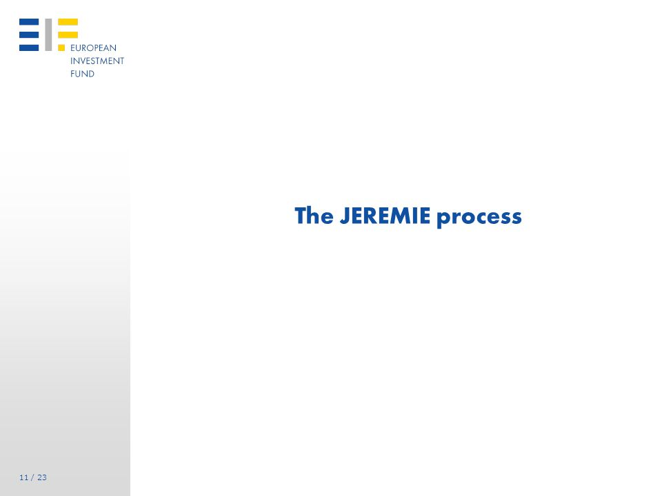 JEREMIE Process: call for expression of interest