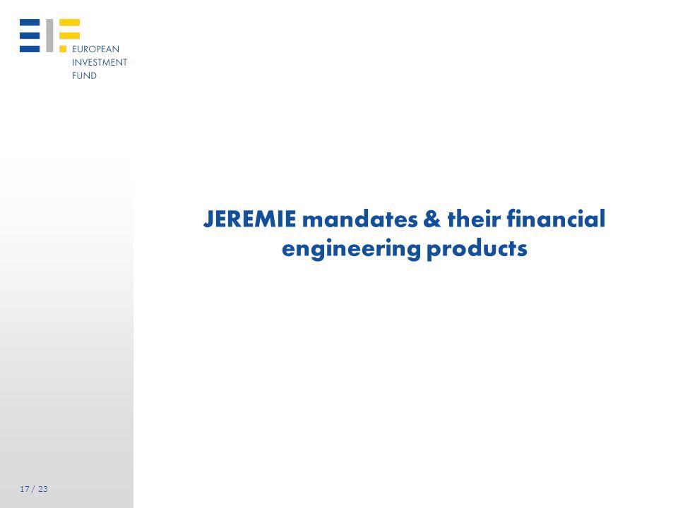 Case Study : JEREMIE via ERDF in Languedoc-Roussillon (FR) market analysis : main conclusions